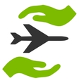 Airplane Care Icon vector image vector image