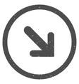 Arrow Right Down Icon Rubber Stamp vector image vector image