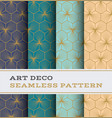 art deco seamless pattern 40 vector image vector image