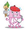 artist cute jellyfish character cartoon