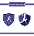 baseball player logo vector image vector image