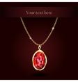 Beautiful gemstone red ruby vector image