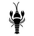 big lobster icon black sign vector image
