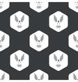 Black hexagon flying bird pattern vector image