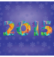 blue new year numbers vector image