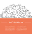 Bodybuilding Template vector image vector image