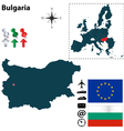 Bulgaria and European Union map vector image vector image