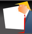 caricature of president donald trump vector image vector image