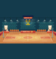 cartoon background of empty basketball vector image vector image