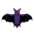 cartoon isolated flying halloween bat vector image vector image