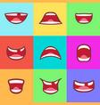 cartoon kids smile happy children mouth set design vector image vector image