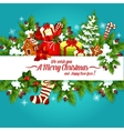 Christmas and New Year holidays poster design vector image vector image