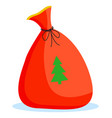 christmas poster card bag with fir-tree vector image vector image