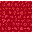 christmas symbols seamless pattern red vector image vector image