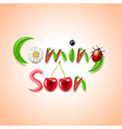 Coming soon nature concept vector image vector image