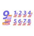 days to go or calendar countdown concept vector image
