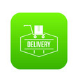 delivery icon green vector image vector image