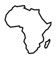 detailed map of africa continent in black vector image vector image