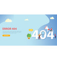 error 404 page not found website template with vector image