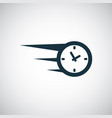 fast time icon for web and ui on white background vector image vector image