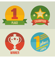 First place icons set flat design vector image vector image