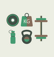 fitness equipment flat design vector image