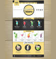 flat cocktail menu concept web site design vector image vector image