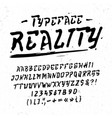 font reality hand crafted modern typeface vector image vector image