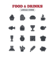 Food and Drinks icon Beer coffee cocktail vector image vector image