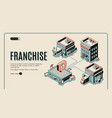 franchise web banner on retro colored background vector image vector image
