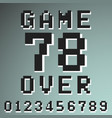 game over numbers vintage t-shirt stamp vector image vector image