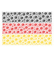 german flag mosaic of ladybird bug items vector image vector image