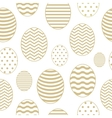 Golden seamless pattern with Easter eggs vector image