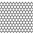 grille hexagonal cell texture speaker vector image vector image