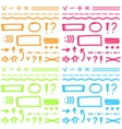 hand drawing highlighter elements for select vector image vector image