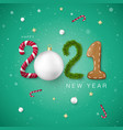 Happy new year 2021 creative festive lettering