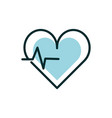 heartbeart cardiology equipment medical icon line vector image