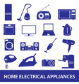 home electrical appliances set eps10 vector image vector image