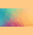 horizontal color triangle background vector image vector image
