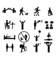 human pictogram set silhouette human vector image vector image