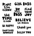 lettering phrases vector image