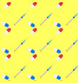 medication seamless pattern vector image
