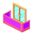 modern balcony icon isometric 3d style vector image vector image
