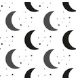 moon and stars black and white vector image vector image