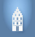 multi storey house made of white paper isolated vector image vector image