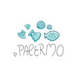 palermo hand drawn vector image