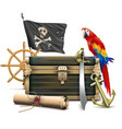 pirate accessories concept vector image vector image