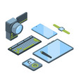 portable gadgets isometric 3d vector image vector image