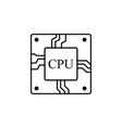 processor line icon for websites and mobile vector image vector image