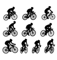 racing bicyclists vector image vector image